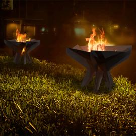 Hex en enkel eldstad för utomhusbruk