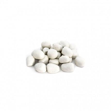 24 st keramiska stenar vit