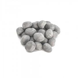 24 st keramiska stenar grå