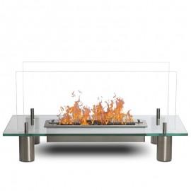 Glass modern vägghängd etanolkamin