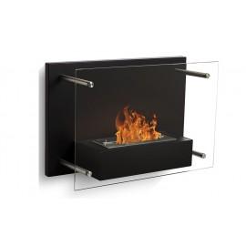 Fireglass väggmonterad bioetanolspis svart