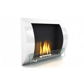 Fuego väggmonterad bioetanolspis vit