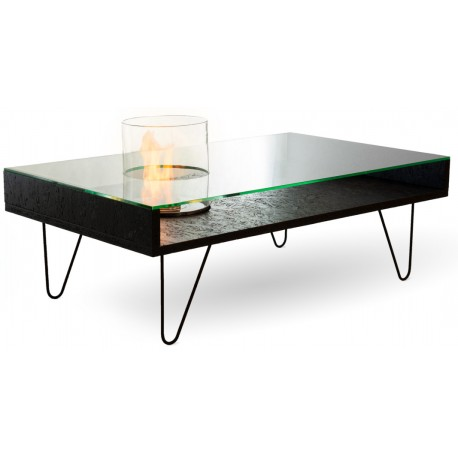 Fire coffee table från Planika svart